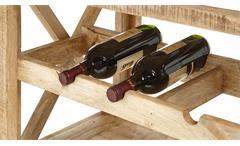 Barwagen Ferdi Servierwagen Massivholz Mango Barschrank mit Tablett rollbar Weinregal