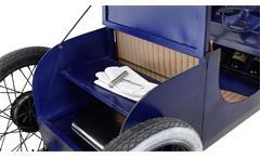 Auto-Bar Car Oldtimer Hausbar aus Metall blau Bartheke mit LED 196 cm