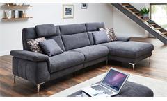 Ecksofa Camus Sofa Wohnlandschaft Polsterecke Polstermöbel in grau 283x164 cm