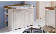 Wickelkommode Lotta Babyzimmer Kiefer massiv weiß white wash Provence