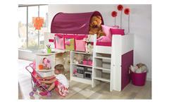 Hochbett STEENS FOR KIDS Kombi Weiß MDF  Lila Pink 90x200 cm