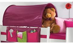 Hochbett Steens for Kids Bett Regal Tisch MDF weiß Textilien lila pink 90x200 cm