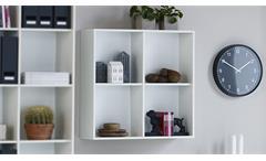 Hängeregal Boxy Regal Wandregal in weiß Dekor 25cm tief Büroregal Bücherregal