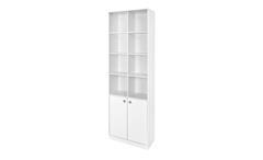 Standregal Boxy Regal in weiß Dekor Hochregal Schrank Büroschrank