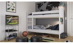 Etagenbett ALBA Kinderbett Hochbett MDF weiß 90x200 cm