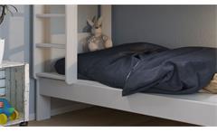 Etagenbett Alba Kinderbett Hochbett Bettgestell Bett in MDF weiß 90x200 cm