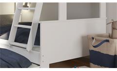 Familienbett Alba Etagenbett Etagenbett Bett Bettgestell MDF weiß 90-120x200 cm