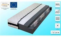 Matratze DormiSpring T200 in weiß XXL Tonnentaschen-Federkern 7 Zonen 90x200 cm