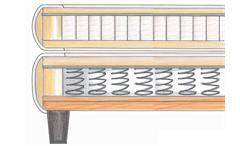 BOXSPRINGBETT BX 300 BETT SCHLAFZIMMERBETT BONELL-FEDERKERN ANTHRAZIT 180x200