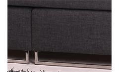 Boxspringbett BX760 Kopfteil mit Steppung 180x200 Taschenfederkern mit Topper