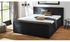 Boxspringbett BX1160 CHICAGO in Stoff schwarz 180x200 cm