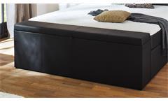 Boxspringbett BX1160 Chicago in schwarz mit Topper und Aufbewahrungsbox 180x200