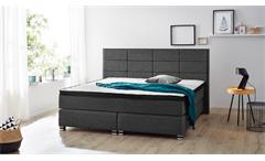 Boxspringbett BX1120 WESTON in Webstoff grau 180x200 cm