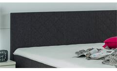 Boxspringbett BX920 Kentucky Stoff schwarz Bonell-Matratze inkl. Topper 180x200