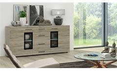 Sideboard Tangos Anrichte Kommode Schrank für Wohnzimmer in Eiche San Remo 169
