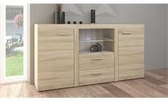 Sideboard Rumba Kommode Anrichte Schrank für Wohnzimmer in Sonoma Eiche 156 cm