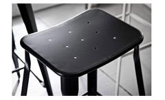 Barhocker 2er Set Bistro Hocker Industrial Design Stahl Metall Industrie Look