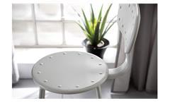 Barhocker Metall weiß matt 2er Set Industrie höhenverstellbar Rückenlehne