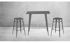 Barhocker Metall grau matt Tresenhocker 2er Set Industrial Industrie Design