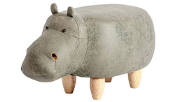 Tierhocker Hippo grün Nilpferd Kinderhocker Massivholz natur Flusspferd
