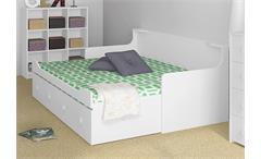 Ausziehbett Combee Bett Gästebett Jugendzimmer Weiß 80x200 cm