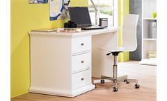 Schreibtisch Paris Computertisch PC-Tisch weiß