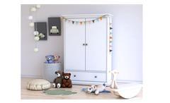Wäscheschrank Paris Landhaus Kinderzimmer Schrank in weiß