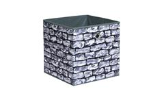 Faltbox Kubus Wall Box Korb Regalkorb in Steinoptik für Raumteiler und Regale