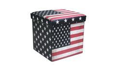 Faltbox USA Sitzhocker mit Kunstleder bezogen