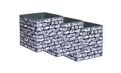 Faltbox Kubus 3er Wall Set Box Korb Regalkorb Steinoptik für Raumteiler Regale