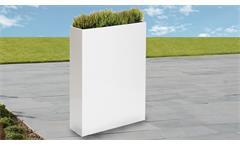 Vase Outdoor Blumenkasten Zinkblech weiß 55/85/23 cm