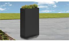 Vase Outdoor Blumenübertopf Zinkblech anthrazit 55/85/23 cm