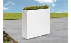 Vase Outdoor Zinkblech weiß Blumenkasten 95/85/23 cm