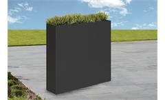 Vase Outdoor Zinkblech anthrazit Blumenkasten 95/85/23 cm