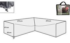 Schutzhülle Protect A10 Garten Polyrattan Ecksofa Abdeckhaube 272 x 92 cm