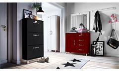 Schuhschrank Malibu Kommode Anrichte Sideboard Flurmöbel in rot von Tenzo 92x98