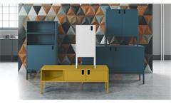 TV-Board Uno Lowboard Unterschrank Kommode in Senf gelb lackiert Tenzo 137x50 cm