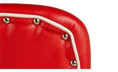 Bistrostuhl Elvis 4er Set Stuhl American Diner 50er Jahre Retro rot weiß Chrom