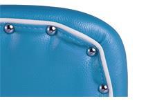 Bistrostuhl Elvis 2er Set Stuhl American Diner 50er Jahre Retro blau weiß Chrom