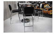 Barstuhl Elvis 4x Barhocker American Diner 50er Jahre Retro schwarz weiß Chrom
