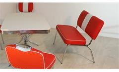 Sitzbank ELVIS Bank rot weiß Chrom 50er Jahre American Diner