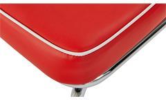 Sitzbank Elvis Bank Dinerbank American Diner 50er Jahre Retro rot weiß Chrom