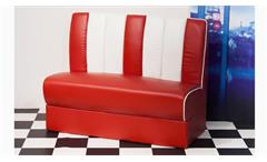 Polsterbank Elvis Bank Dinerbank American Diner 50er Jahre Retro in rot weiß