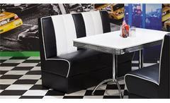 Polsterbank Elvis Bank Dinerbank American Diner 50er Jahre Retro in schwarz weiß