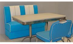 Polsterbank ELVIS Bank in blau weiß American Diner 50er Jahre