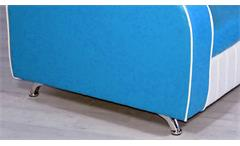 Sofabank Elvis Polstersofa Sofa in blau weiß American Diner 50er Jahre Retro