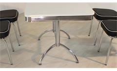 Esstisch Elvis Tisch Dinertisch Retro American Diner Edelstahl und weiß 50er Jahre