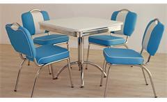 Esstisch Elvis Tisch 80x80 Bistrotisch American Diner Edelstahl 50er Jahre