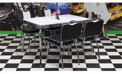 Essgruppe ELVIS 2 Tischgruppe American Diner 50er Jahre Edelstahl schwarz