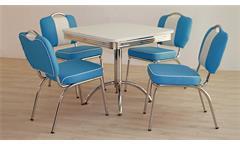Essgruppe ELVIS 3 Tischgruppe weiß blau American Diner 50er Jahre